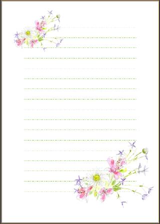 ようこせんせいのお絵かき教室 : 便箋 縦書き ダウンロード : すべての講義